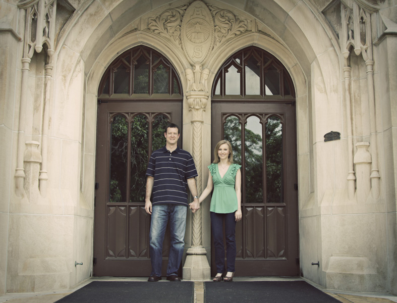 An engagment shoot in Downtown Decatur