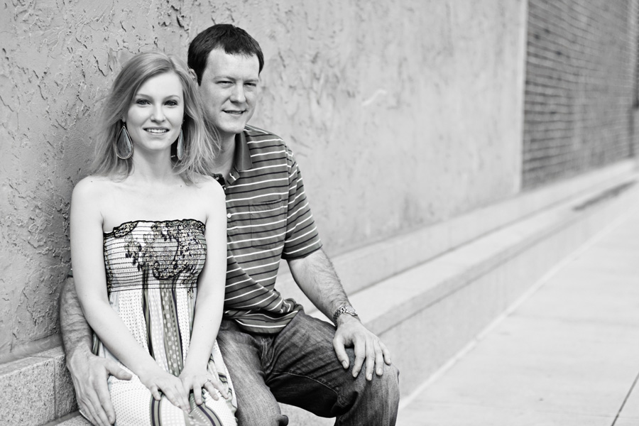 Shot from Downtown Decatur Engagement Photography Shoot